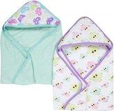 Miracle Blanket MiracleWare Muslin Hooded Towel, Butterflies and Owls, 2 Pack