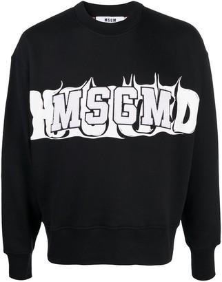 MSGM Logo Cotton Sweatshirt