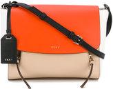 DKNY colour block crossbody bag - women - Leather/Cotton - One Size