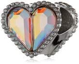 "Disney Stainless Pear Shape Crystal Heart ""Sparkle Happens"" Bead Charm"