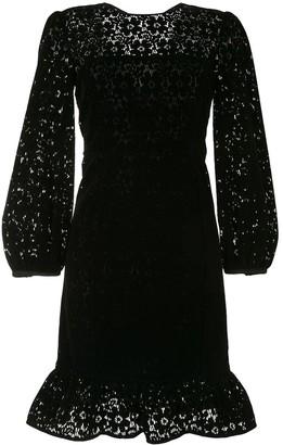 Emporio Armani Floral-Lace Peplum Dress