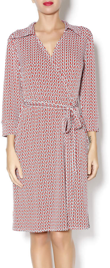 Laundry by Shelli Segal Red wrap dress