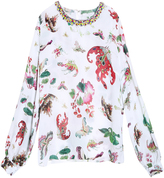 Andrew Gn Butterfly Blouse