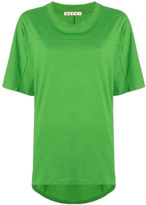 Marni pleated black oversized T-shirt