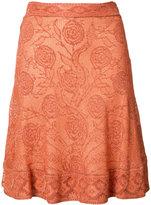 Roberto Cavalli floral print skirt - women - Silk/Spandex/Elastane - 38