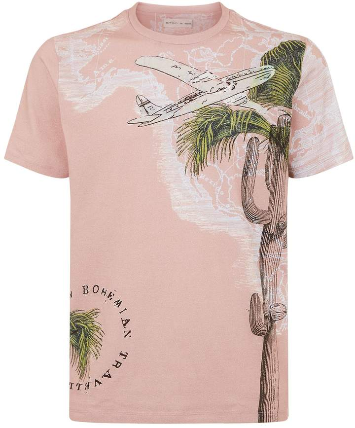Etro Map and Palm T-Shirt