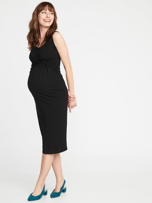 Old Navy Maternity Twist-Front Bodycon Tank Dress