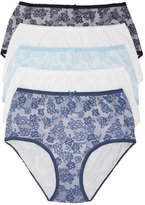 M&Co Lace print full briefs multipack