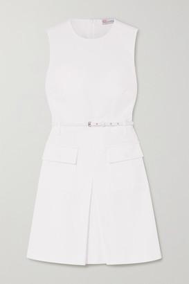 RED Valentino Belted Denim Mini Dress - White