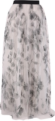 Brunello Cucinelli Floral Embroidery Skirt