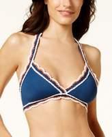 Becca Medina Crochet-Trim Halter Bikini Top