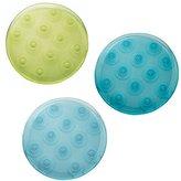 InterDesign Glee Bath Dots, Set of 6, Rain Assorted