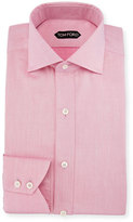 Tom Ford Slim-Fit Iridescent Barrel-Cuff Dress Shirt, Pink