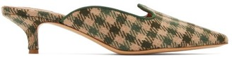 Giuliva Heritage Collection X Le Monde Beryl Checked Kitten-heel Mules - Womens - Green Multi