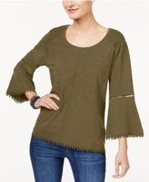 Style&Co. Style & Co Lantern-Sleeve Top, Only at Macy's