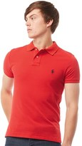 Polo Ralph Lauren Mens Custom-Fit Mesh Polo Red