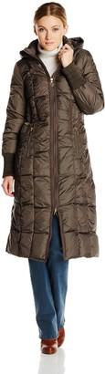 T Tahari Women's Elizabeth Maxi Length Down Coat No Fur