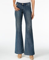 MICHAEL Michael Kors Selma Authentic Wash Flare-Leg Jeans