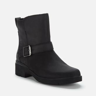 Timberland Women's Graceyn Waterproof Leather Biker Boots