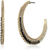 Jessica Simpson Crescent Moon Hoop Earrings