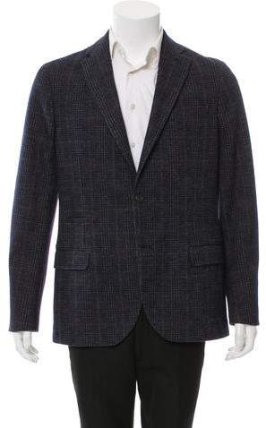 Eleventy Plaid Two-Button Blazer w/ Tags