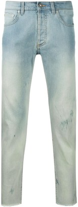 Givenchy Faded Raw-Edge Jeans