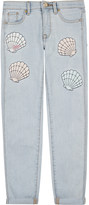 Juicy Couture Shell appliqué denim jeans 4-14 years