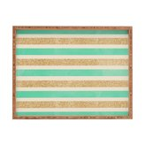 Deny Designs Allyson Johnson Glitter And Mint Indoor/Outdoor Rectangular Tray