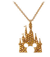 Disney Mickey Mouse Castle Necklace by Rebecca Hook - Gold