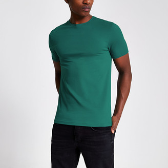 River Island Turquoise muscle fit short sleeve T-shirt