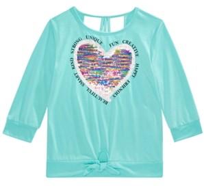 Beautees Big Girls Flip Sequin Heart Top