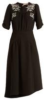 No.21 NO. 21 Crystal-embellished crepe dress