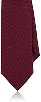 Barneys New York Men's Houndstooth-Woven Silk Necktie-RED