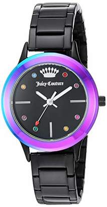 Juicy Couture Label Women's Multicolor Swarovski Crystal accented Bracelet Watch