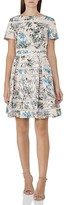 Reiss Mella Floral Silk Lace Trim Dress