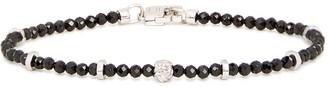 Tateossian Medium black spinel and silver-tone bracelet