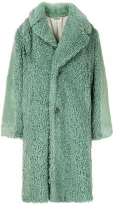 Undercover Suz oversized faux fur coat