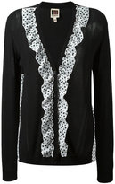 I'M Isola Marras polka dot ruffle cardigan - women - Cotton/Polyester/Viscose - S
