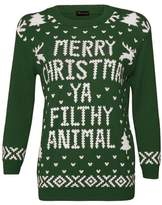 Christmas Jumper Xmas Women Jumpers Merry Christmas Ya Filthy Animal Ladies Christmas Novelty Pullover