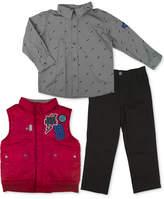 Nannette 3-Pc. Vest, Shirt & Pants Set, Toddler & Little Boys (2T-7)
