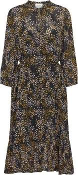 Second Female - Lavender and Yellow Viscose Peach Dress - Print / XS/34