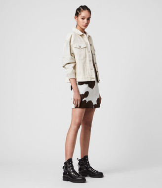AllSaints Ko Leather Skirt