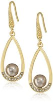 Laundry by Shelli Segal Pearl Gray Teardrop Earrings