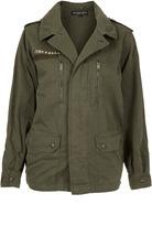 Topshop Petite Eagle Army Jacket