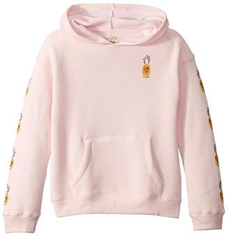 Billabong Kids Love Fruit Fleece Sweatshirt (Little Kids/Big Kids) (Pink Lily) Girl's Sweatshirt