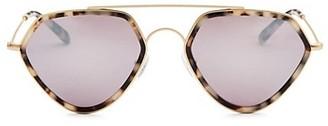 Smoke X Mirrors Geo, 51MM, Geometric Sunglasses