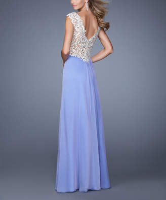 La Femme Women's Special Occasion Dresses Violet - Violet Embroidered-Back Gown - Women