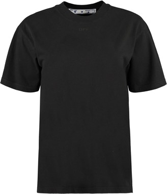 Off-White Cotton Crew-neck T-shirt