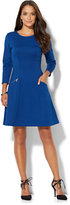 New York & Co. Zip-Accent Flare Dress - Tall