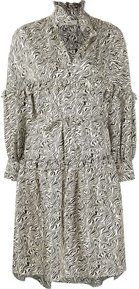 Sandro Salome abstract print midi dress